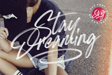 Stay Dreaming SVG Font
