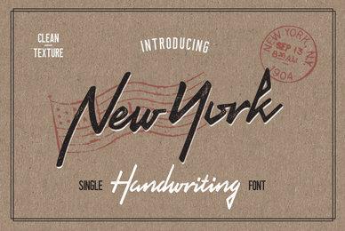 New York Handwriting
