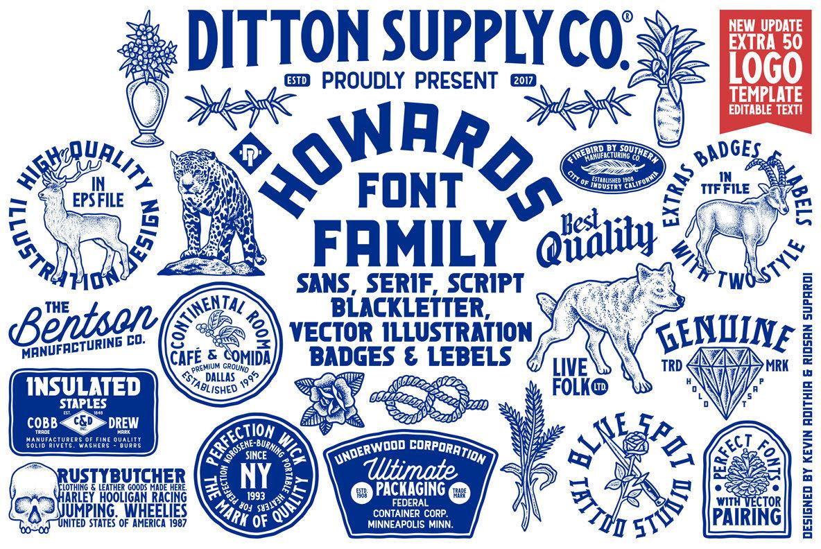 Howards Font Family