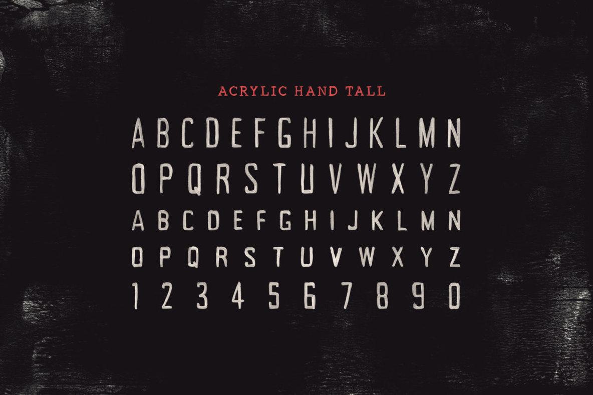 Acrylic Hand SVG Font