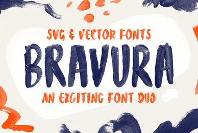 Bravura Handpainted SVG Font Duo