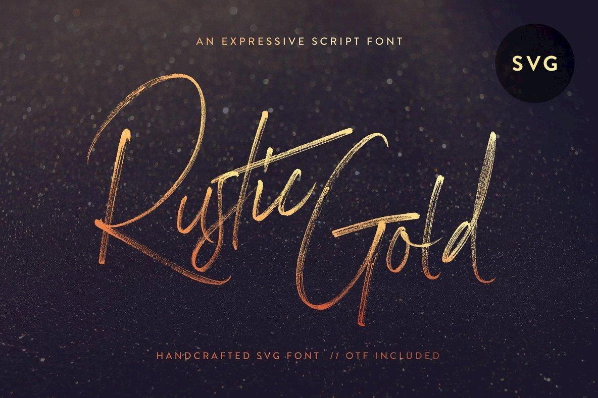 Rustic Gold SVG Script Font