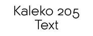 Kaleko 205 Text
