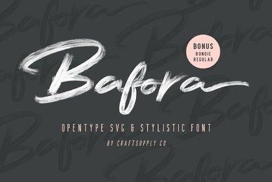 Bafora   SVG Font