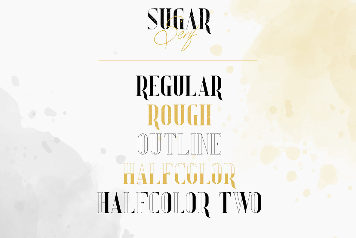 Sugar Spice Font Duo and Extras