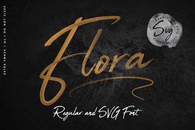 Flora SVG Font