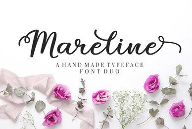 Mareline Script Font Duo