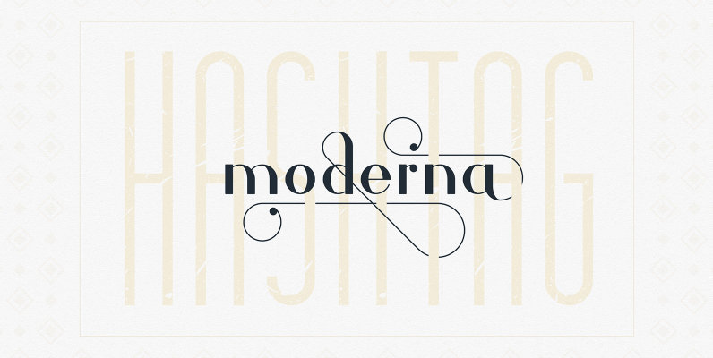 Hashtag Moderna Font Duo and Extras