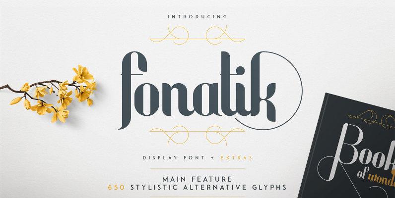Fonatik Display Font and Extras