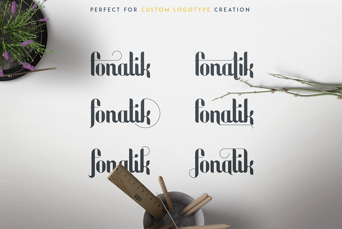Fonatik Display Font and Extras