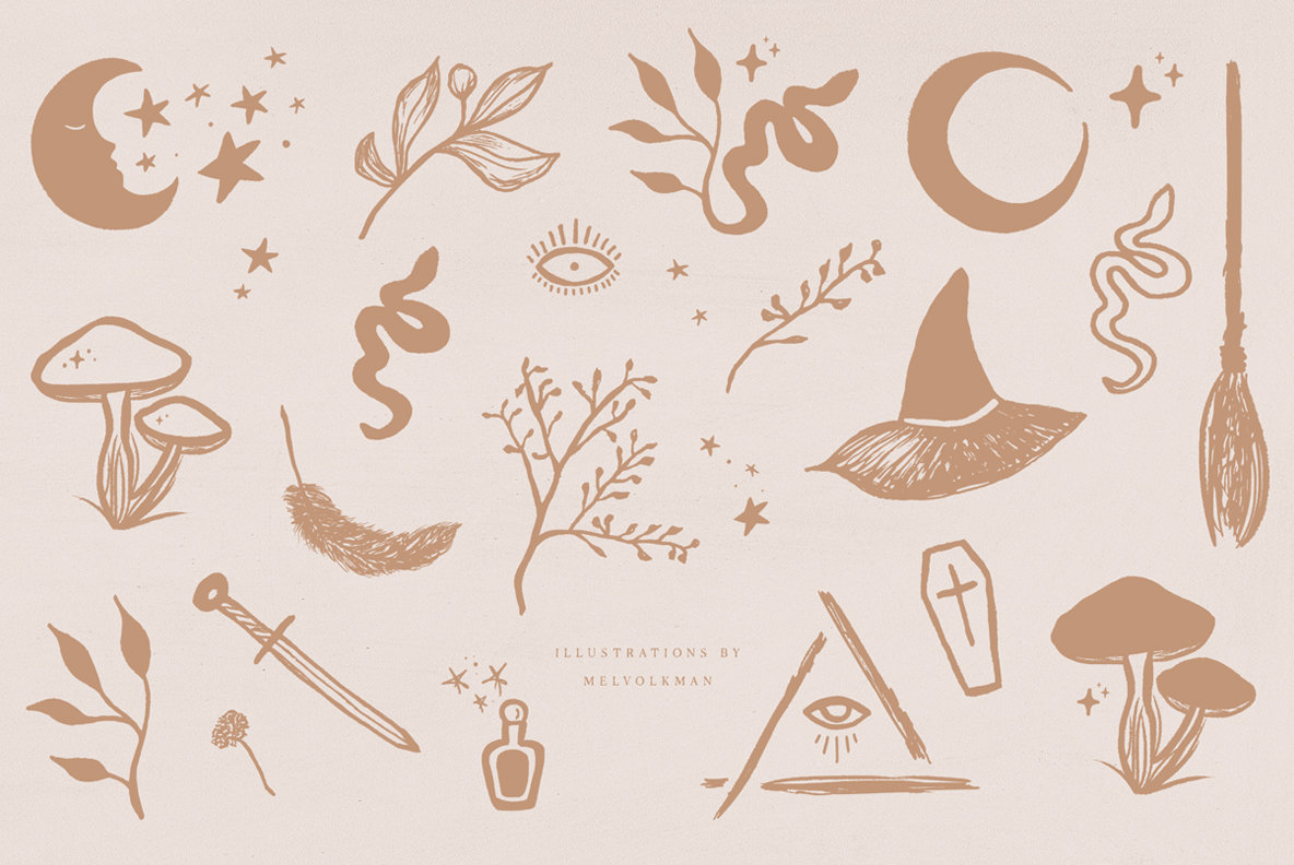 When Night Comes Font Collection