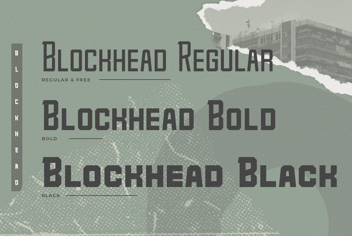 Blockhead Typeface