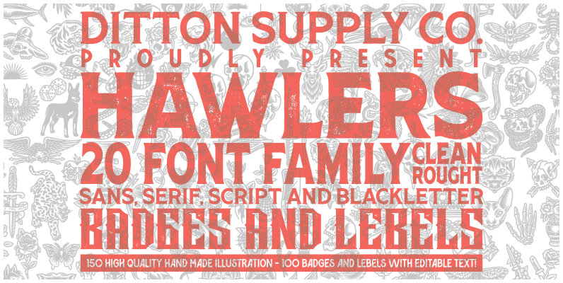 Hawlers Font Family