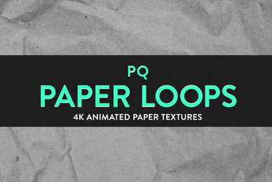 PQ Paper Loops   4K Animated Textures