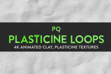 PQ Plasticine Loops   4K Animated Textures