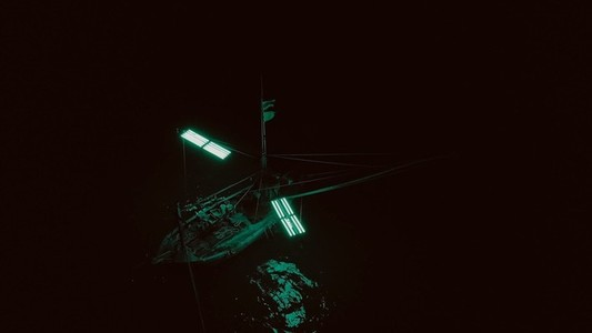 Nighttime Fishing Boat 2