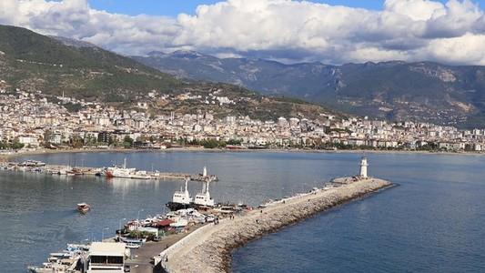 Alanya marina cityscape