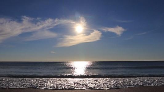 Calm sea waves on the beach