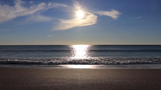 Calm sea beach