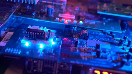 Over A Circuit Board Loaded