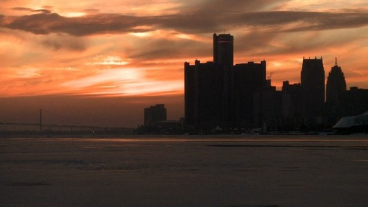 Detroit Sunset Timelapse