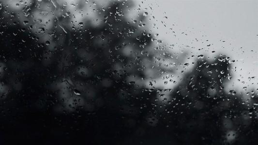 Rain on glass B BW