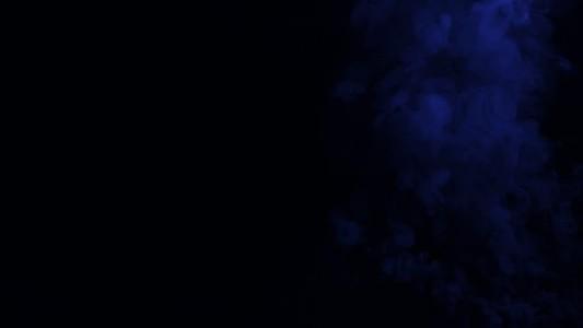 Blue Right Plume Smoke