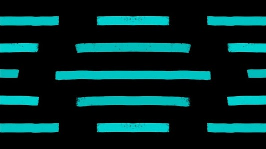 Bright Stripes Horizontal Teal