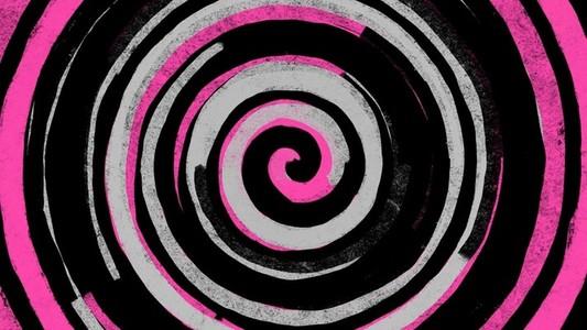Pink paint spiral