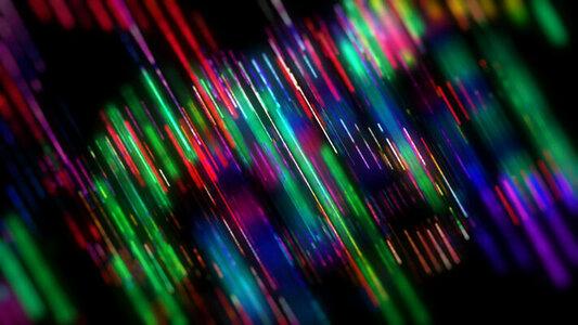 Rainbow strobe jitter