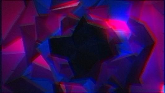 Pink Blue Vortex Retro