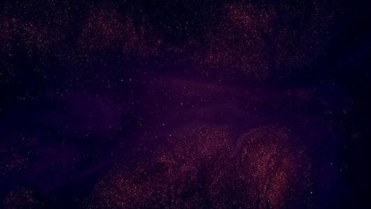 Orange Glitter on Purple