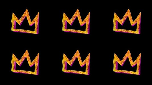 Yellow Pink Crown Multi