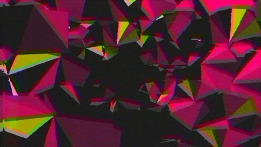 Pink Yellow Space Triangles