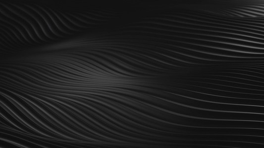 Abstract Black Looping Wave
