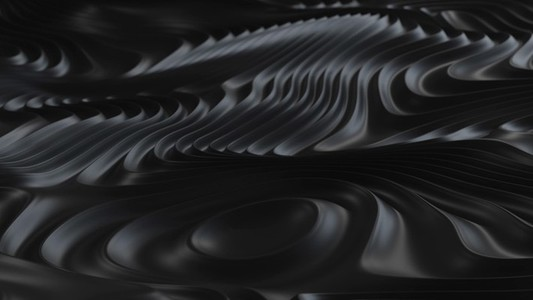 Black Abstract Looping Wave