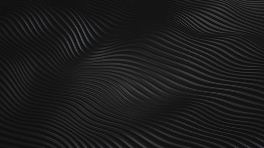 Looping Wave Pattern   Black