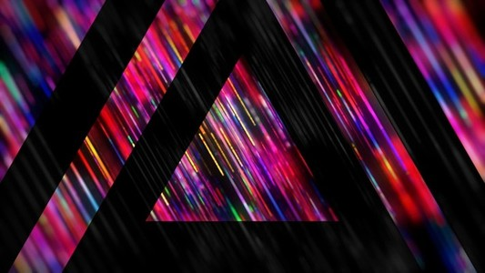 Rainbow Triangles Strobe Alt
