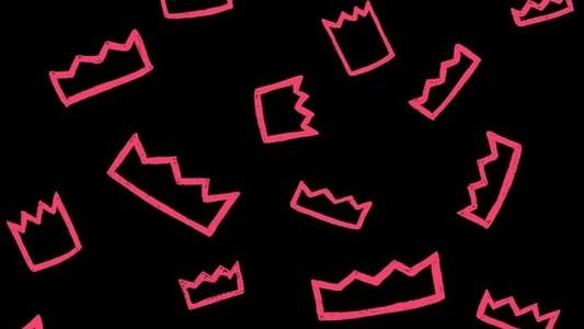 Crown Scroll Pink