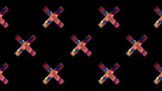 Spinning Rainbow Crosses