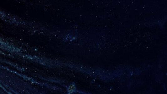 Slow moving night sky