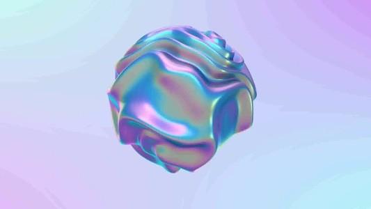 3D liquid abstract animation