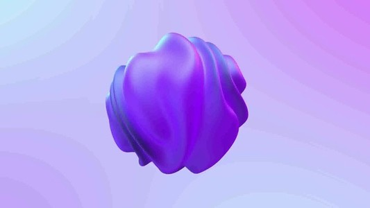 3D abstract liquid shape