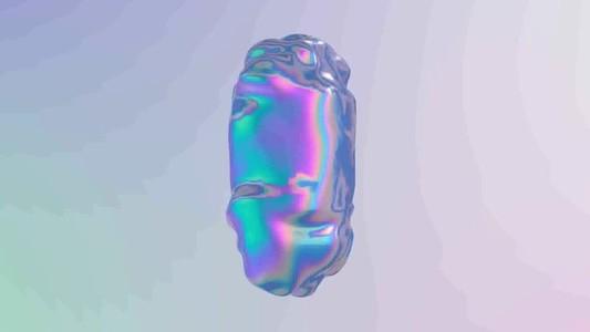 3D abstract liquid animation