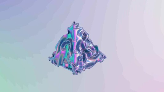 3D abstract liquid animation