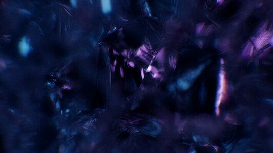 Sculpted glass deep purple blue