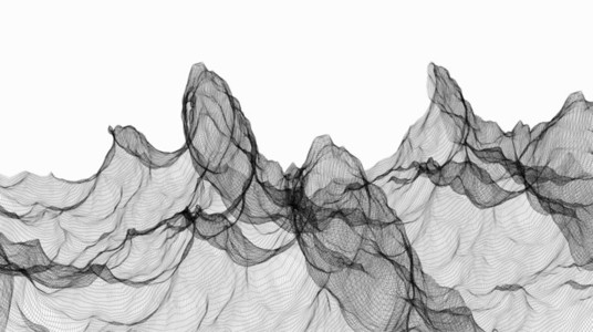 Wireframe Waves 05