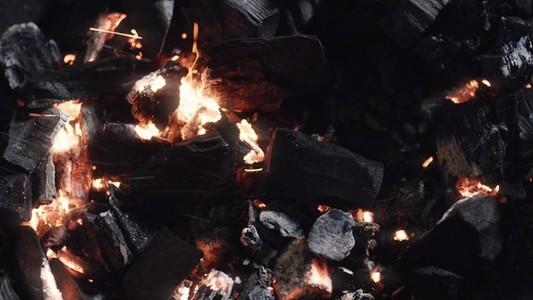 Rocks charcoal and embers