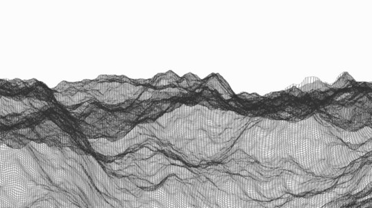 Wireframe Waves 06