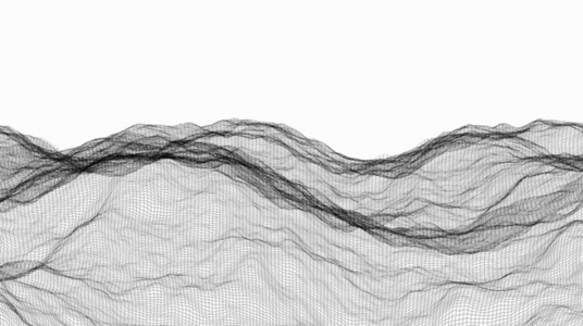 Wireframe Waves 08